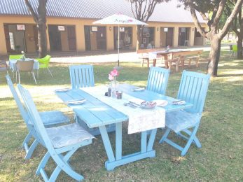 Tea Garden outside lawn area seating_